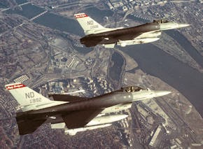 F-16 fighter jets over Washington, DC
