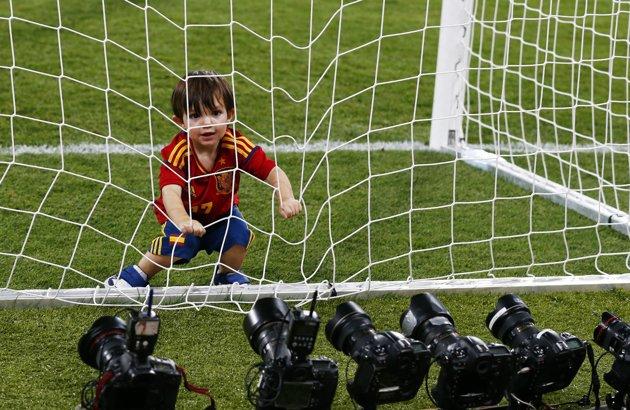Photos enfants de joueurs d'espagne chion euro 2012 :