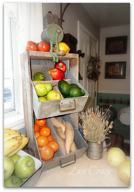 Lace Crazy- DIY Vegetable Bin-Treasure Hunt Thursday- From My Front Porch To Yours
