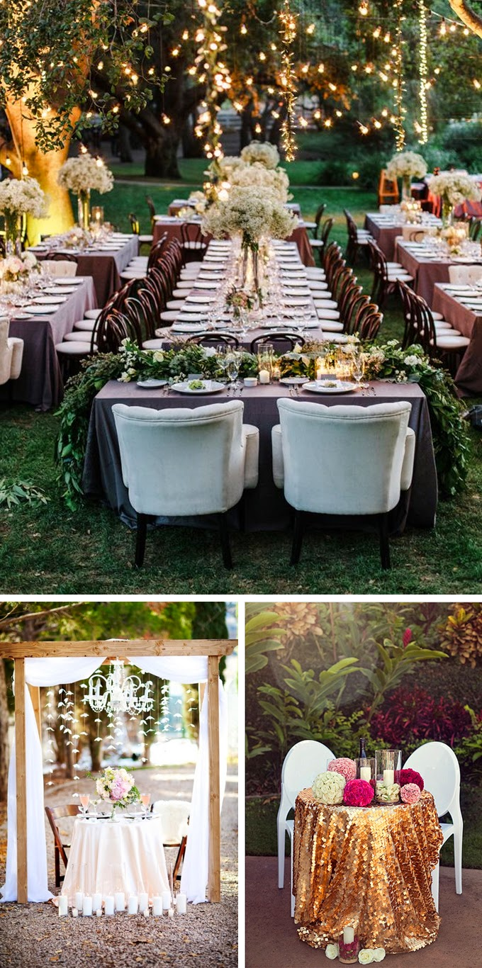 5 head table wedding decoration ideas for Wedding party table decorations