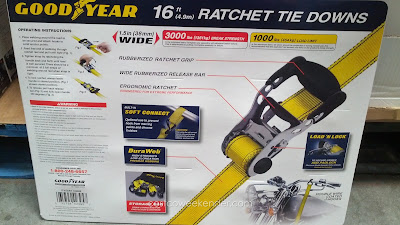 Goodyear Ratchet Tie Downs with 1000lb load limit