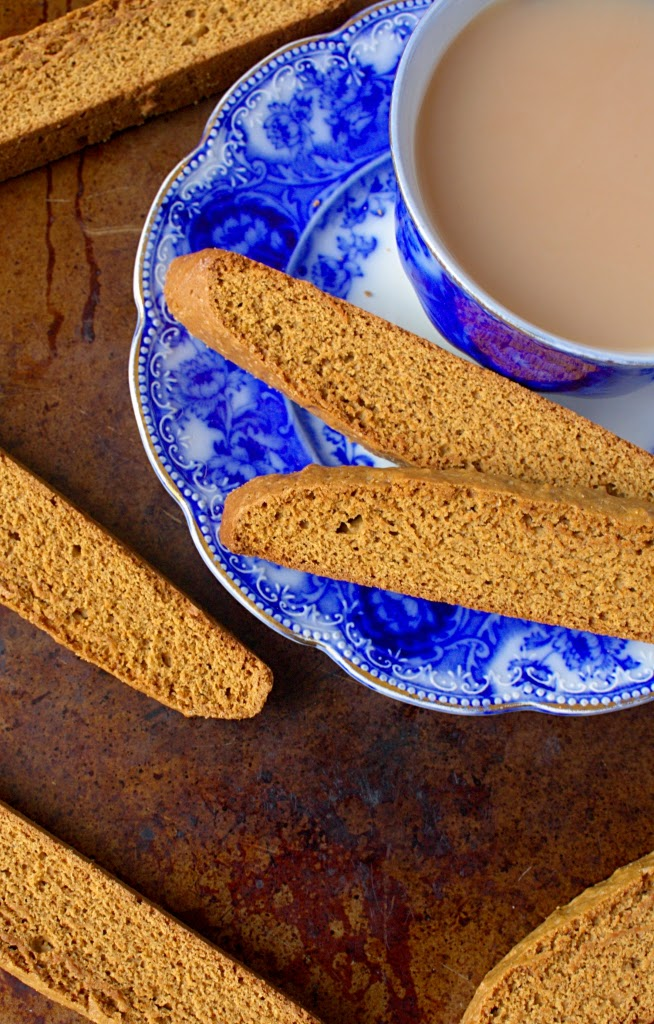 Gingerbread Biscotti - full of lovely warming spices. A crunchy texture perfect for dunking.