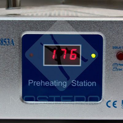 Режим набора температуры преднагревателя плат AOYUE Int 853A