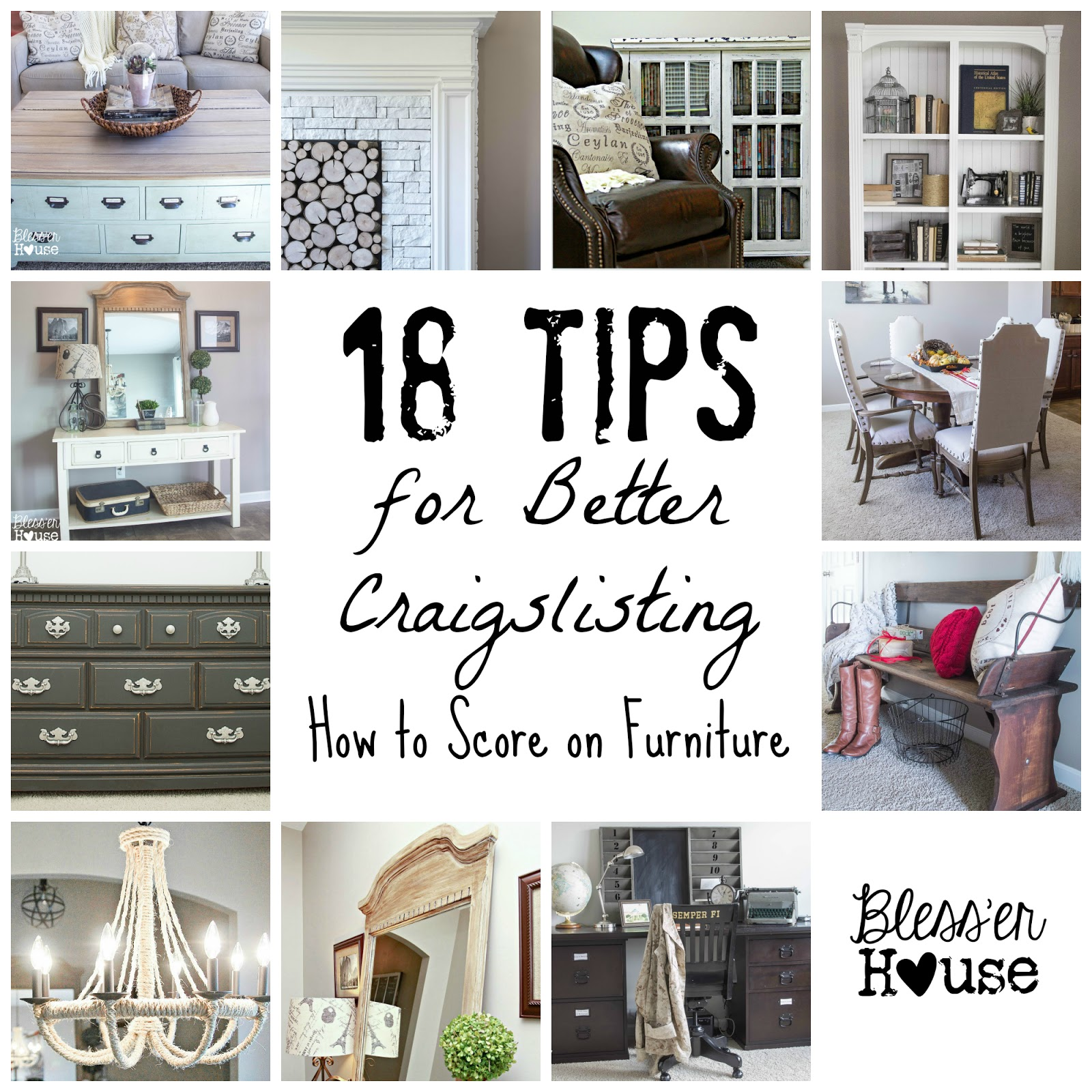 Bless'er House | 18 Tips for Better Craigslisting: How to Score on Furniture