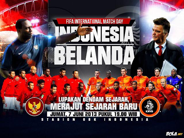 Timnas Indonesia vs Belanda 32 Mei 2013