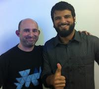 Jackson Feijó Filho (der) y Pablo Angel Veliz (izq)