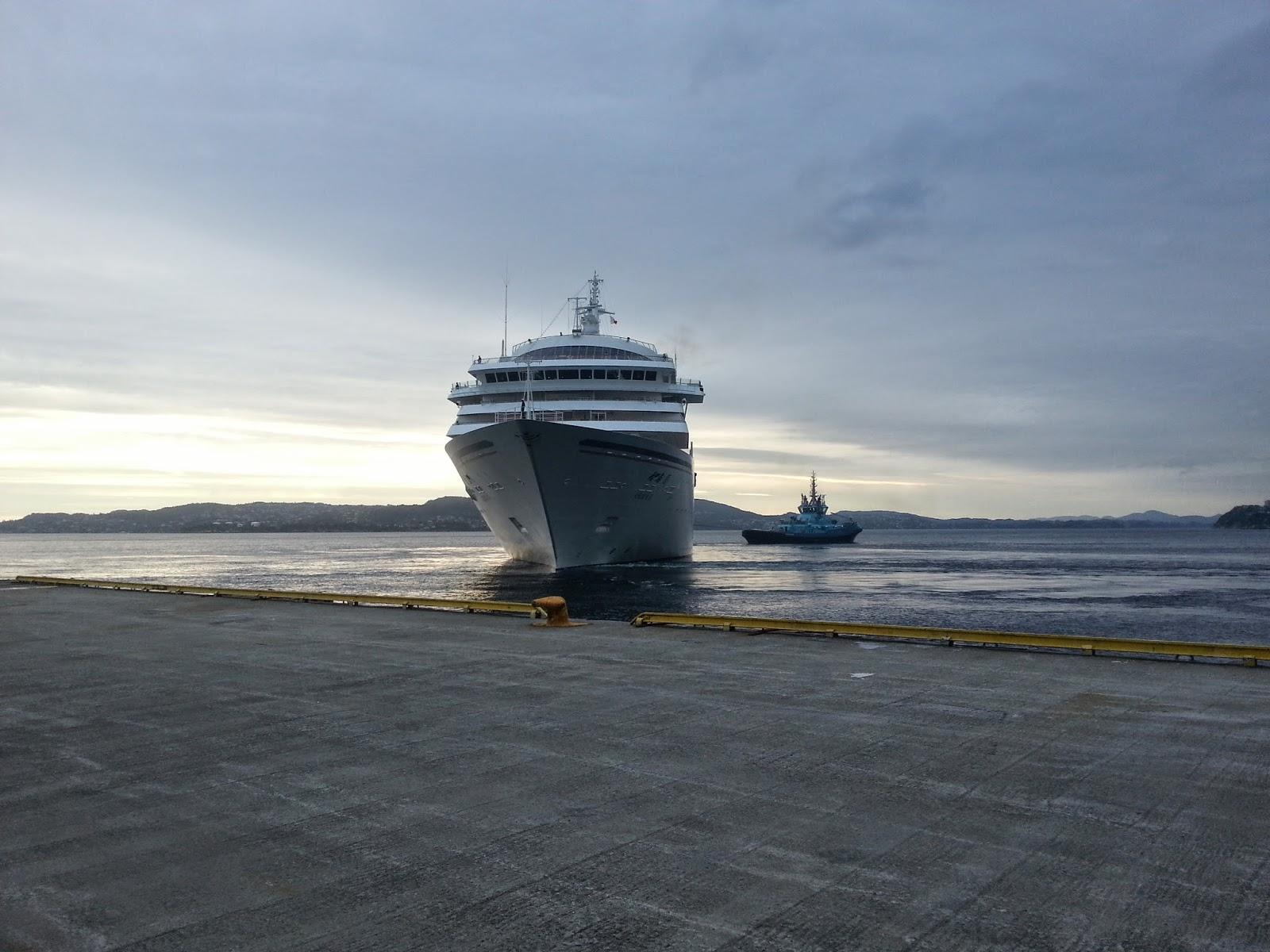 Japanese Cruise Ship Asuka II in Bergen, Norway