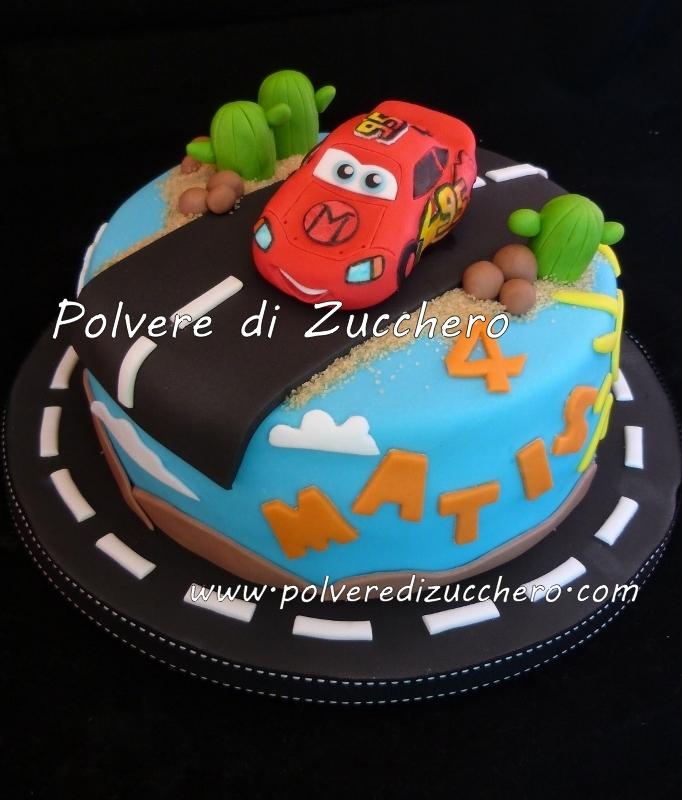 Torte Cake Design Cars : Torta Saetta, Cars va sempre forte! Polvere di Zucchero ...