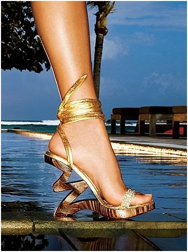 golden strappy bridal footwear