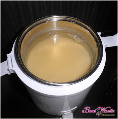 Yogurt soya yang telah siap