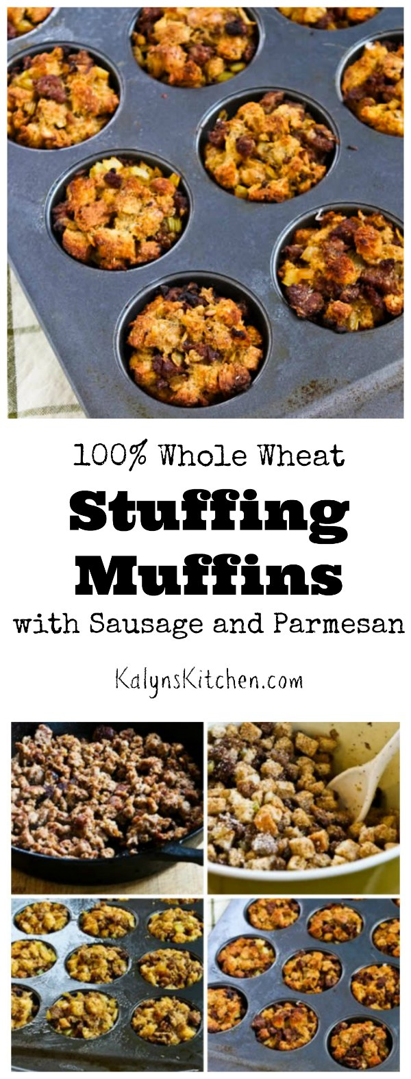 Kalyn's Kitchen®: 100% Whole Wheat Stuffing Muffins with Sausage and ...