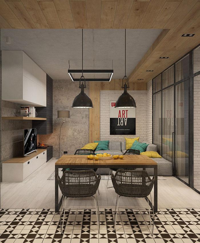 Modern Apartment Brutalist Style