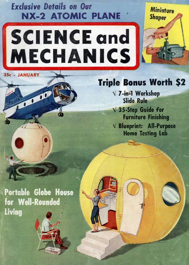 Arquitectura Vintage - Casa Esférica - John William Ludowici