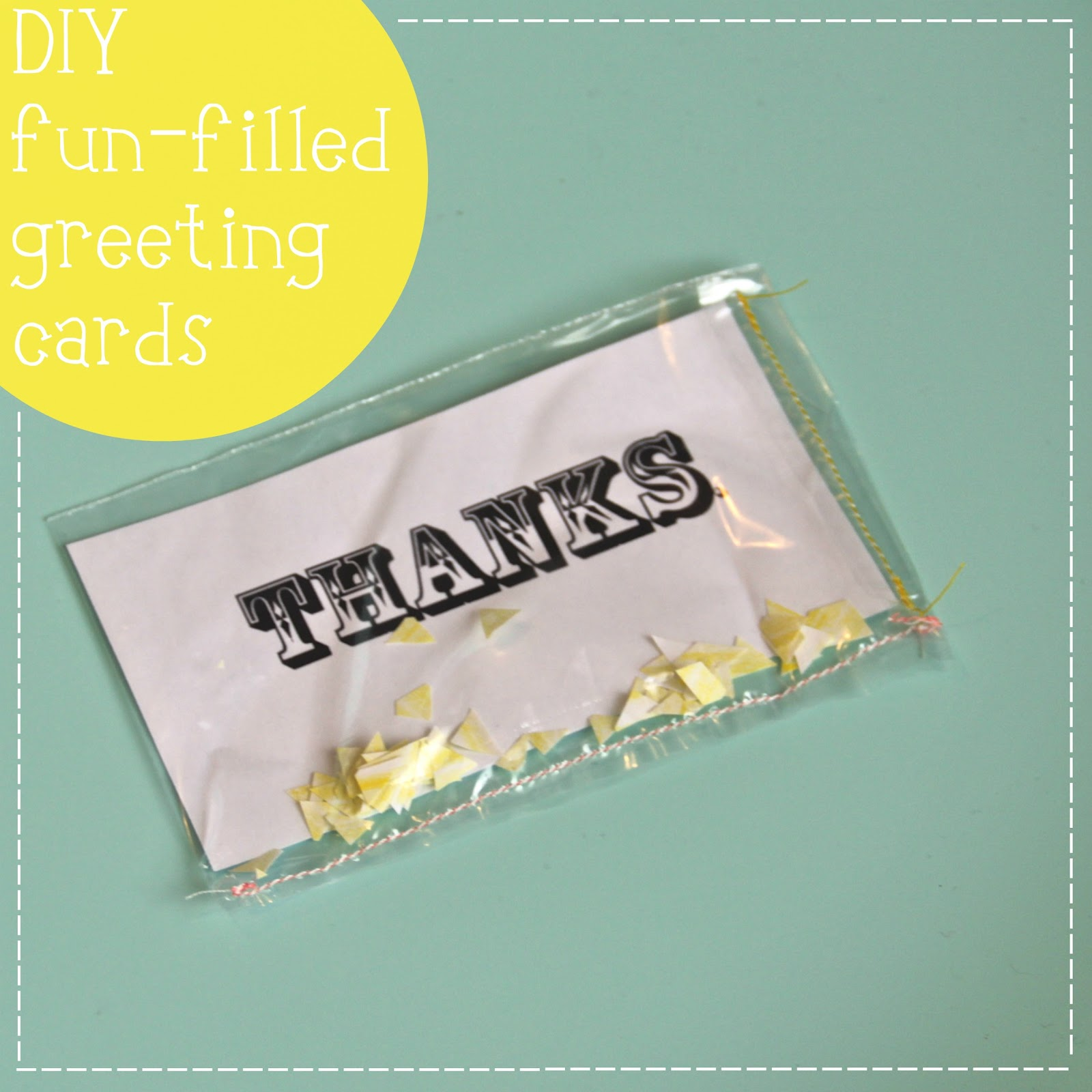 Oh sweet joy handmade monday greetings confetti todays handmade monday diy project combines two of my favorite things confetti stationery enjoy m4hsunfo