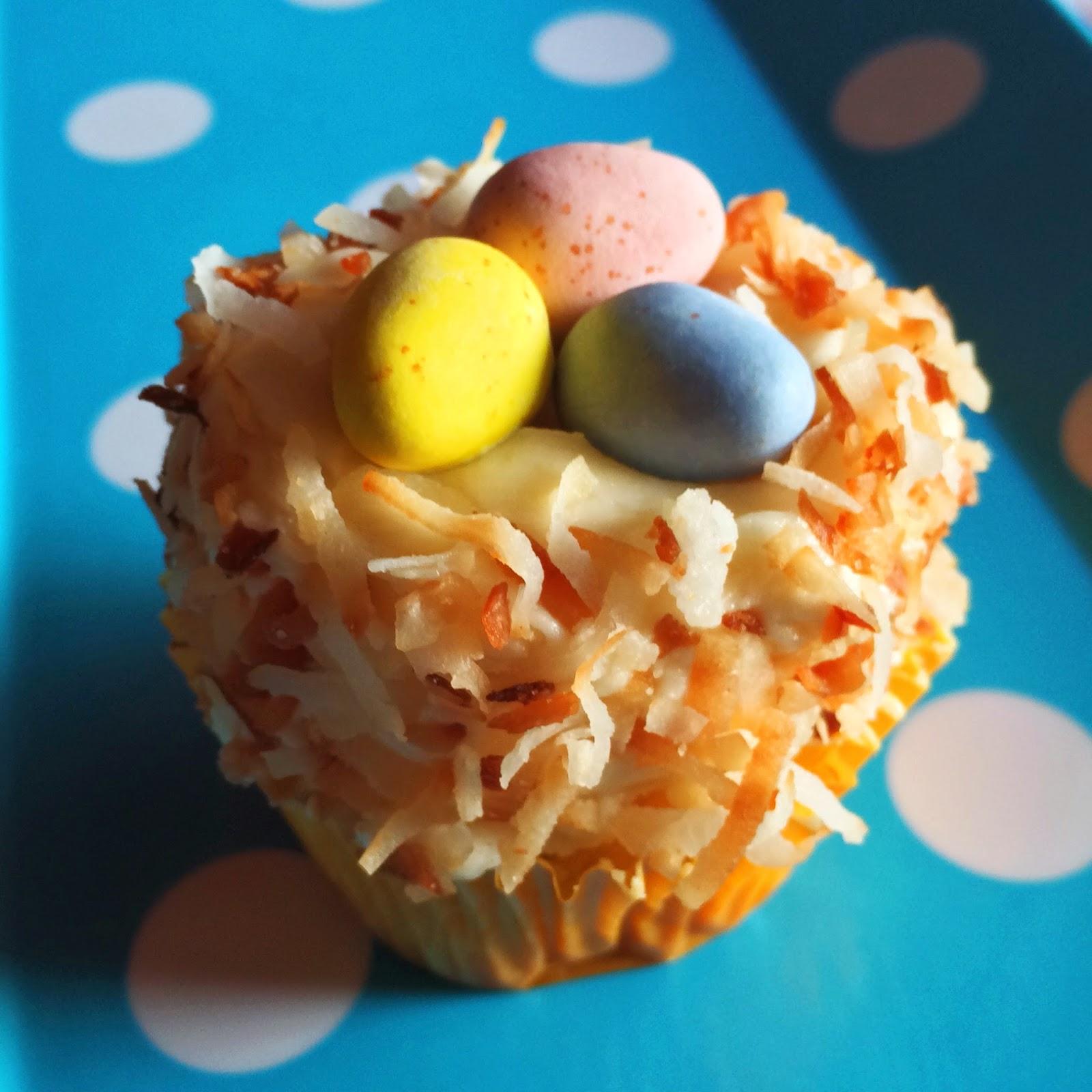 kraftykym ::: coconut nest cupcakes