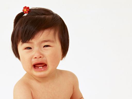 Crying Asian Baby Girl Photo