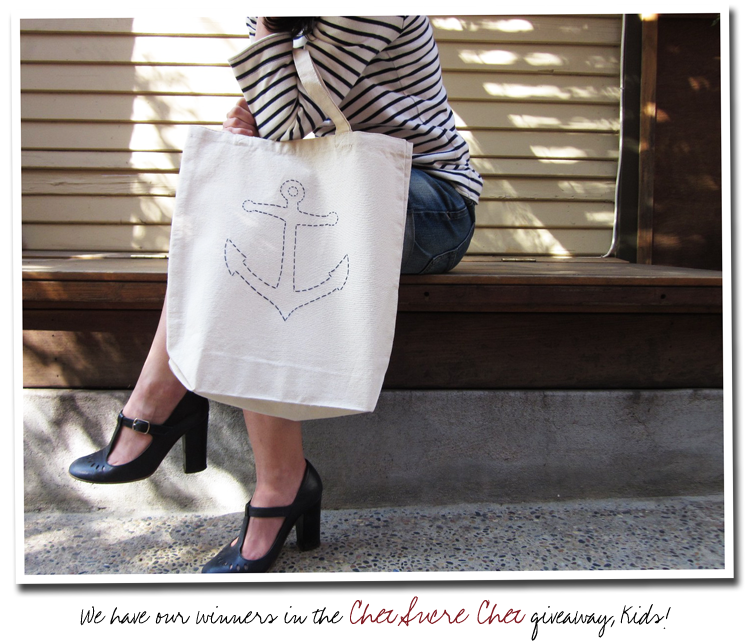 Chez Sucre Chez - Nautical Anchor Tote