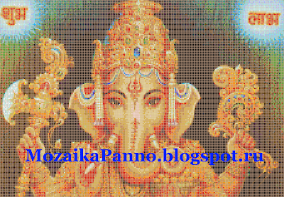 Мозаичное панно «Ганеша»