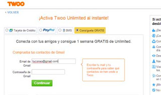 Contactos Twoo unlimited