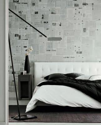 idea deco lowcost empapelar paredes con peridicos