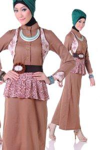 Esme Gamis E-010502 - Coklat (Toko Jilbab dan Busana Muslimah Terbaru)