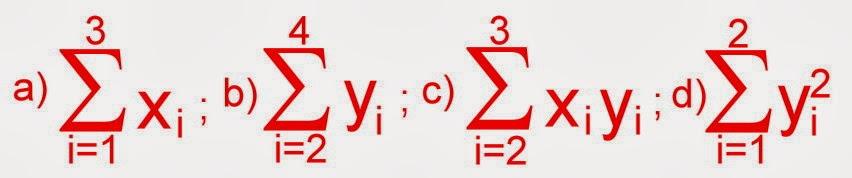 Exercícios de somatória com a notação sigma