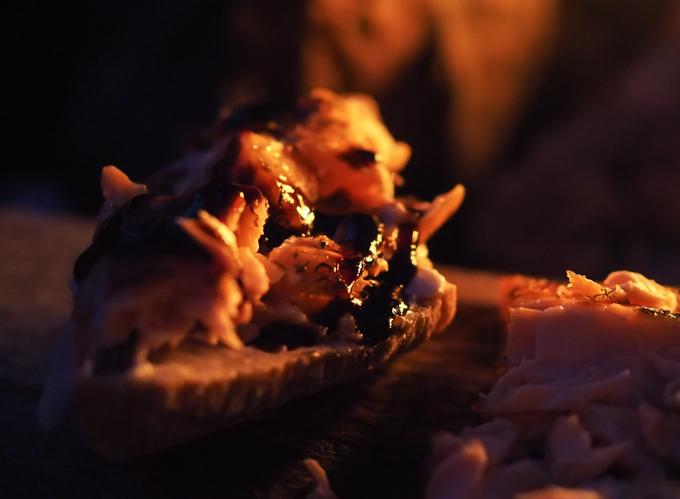loimulohi bruchetta, savulohibruchetta, metsäretkelle evästä