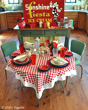 ... Colorful, Whimsical 1940s And 1950s Kitchen Tablecloths And Use Them  Outdoors For Summer Lawn Parties, Festive Barbecues And Tropical Themed  Parties.
