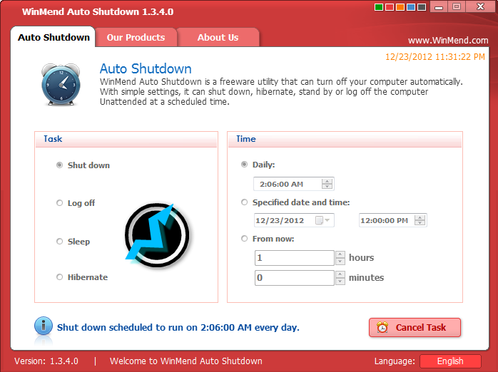 ShutDown Windows Automatic On Your Scheduled