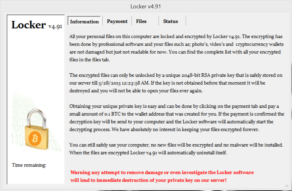 Locker Virus Fix Removal Repair Instructions