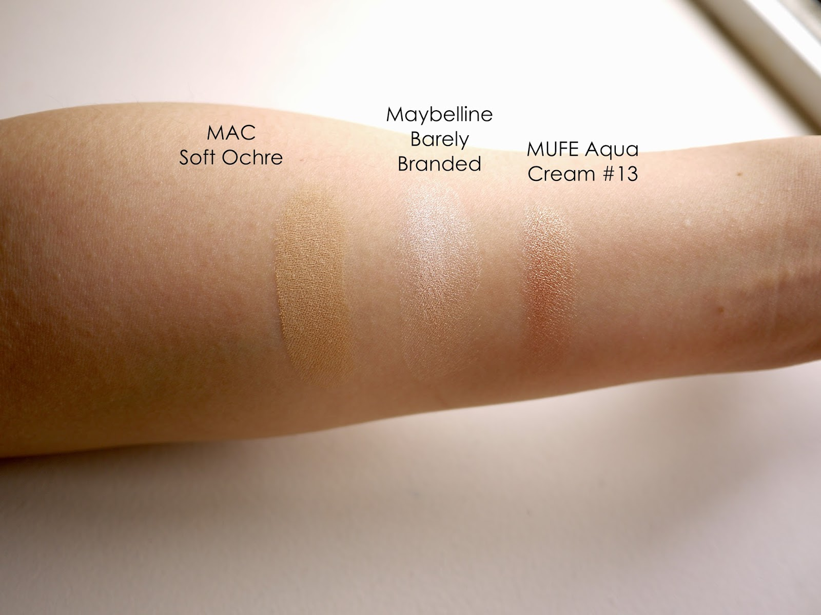 eyeshadow base mac soft ochre maybelline barely branded make up for ever aqua cream 13