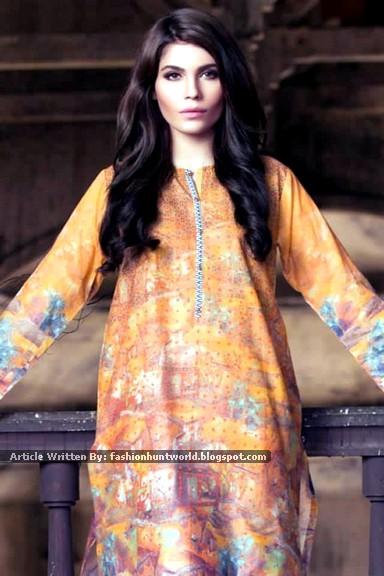 Gul Ahmed Ideas Digital Dreams Fall Dresses 2015-2016