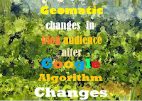 Geomatic Changes in blog Audience after Google Algorithm changes.