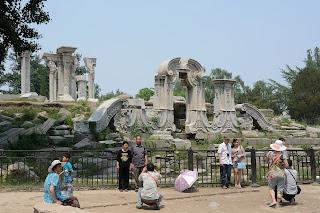 Ruins at Yuanmingyuan or the Old Summer Palace in Beijing