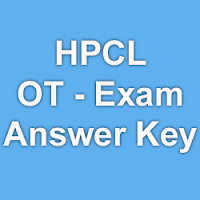 HPCL OT Exam Answer Key for 18th October 2015