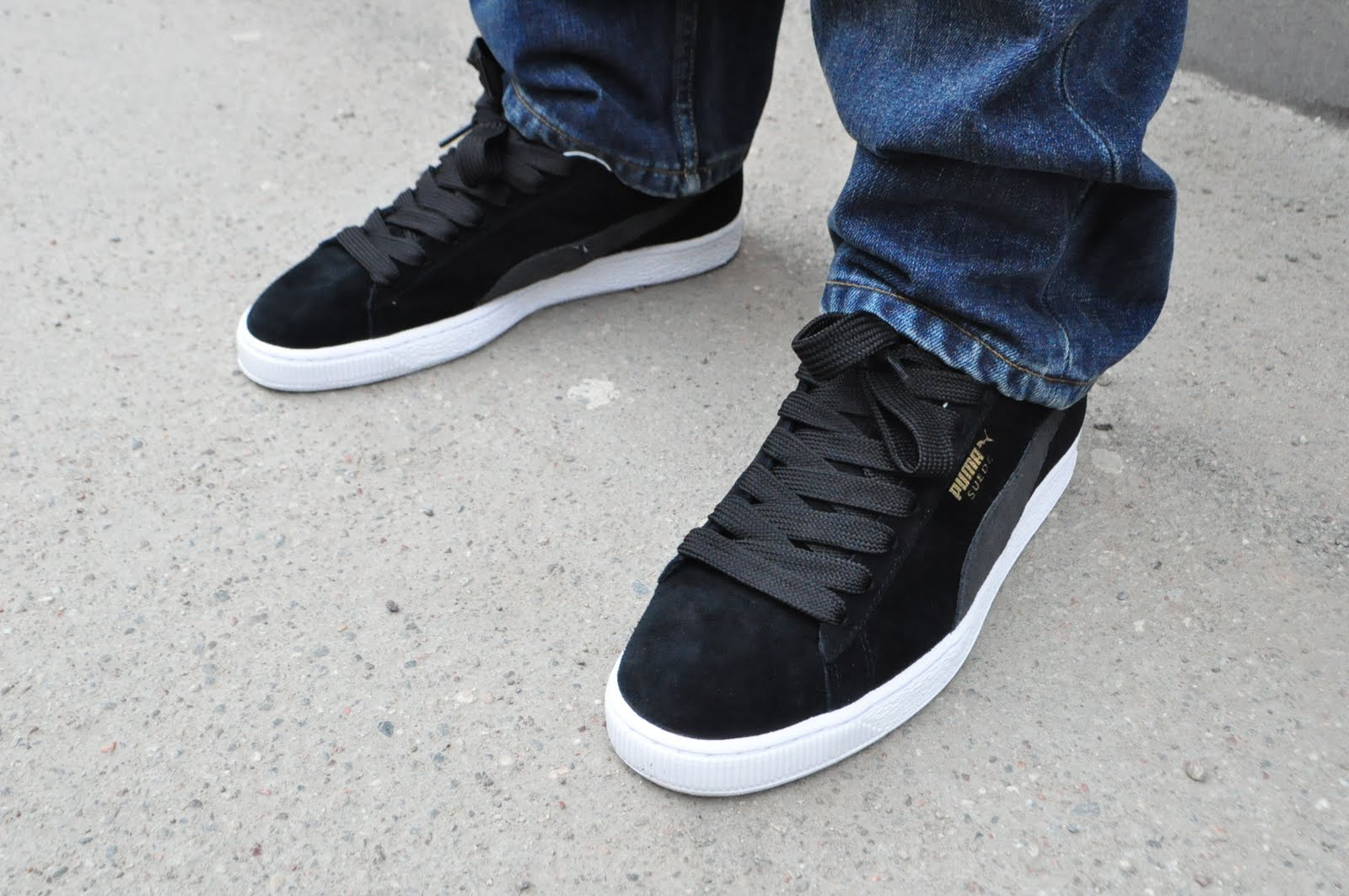 create your own puma suede classic black