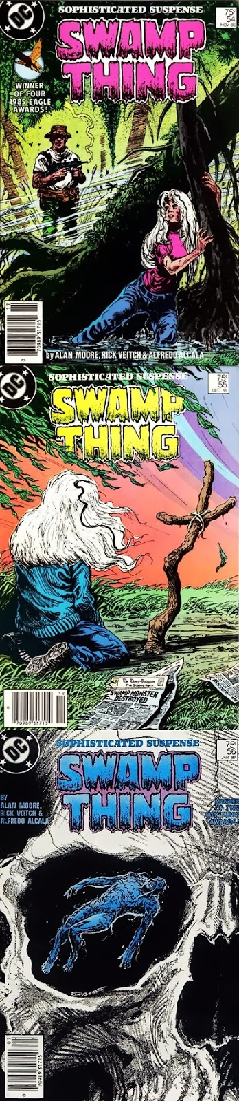 Swamp Thing # 54, 55 56 - Moore, Veitch Alcalá