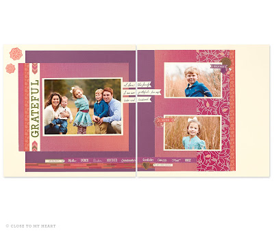 CTMH Sangria Paper Pack Scrapbook Layout