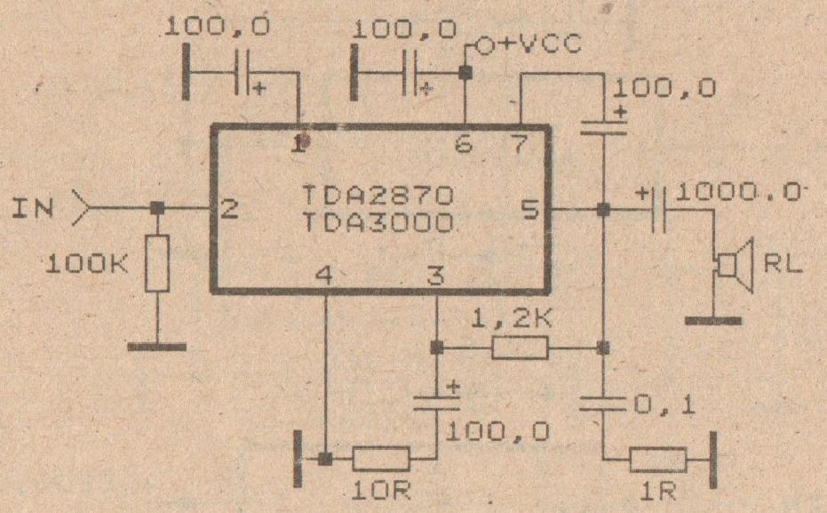 30w , tda3000 intregated audio amplifier subwoofer bass amplifier