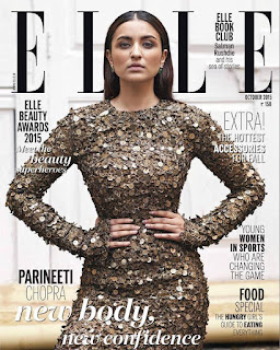 Parineeti Chopra Stunning Fabulous Fashion Look for Elle MagazineSeptember 2015 India Issue