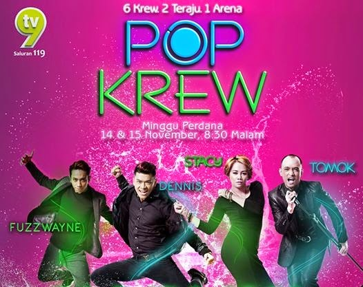 Pop Krew program tv menyanyi dan menari TV9, gambar Pop Krew, peserta Pop Krew, pengacara, juri, koreografer, tenaga pengajar Pop Krew, hadiah pemenang Pop Krew