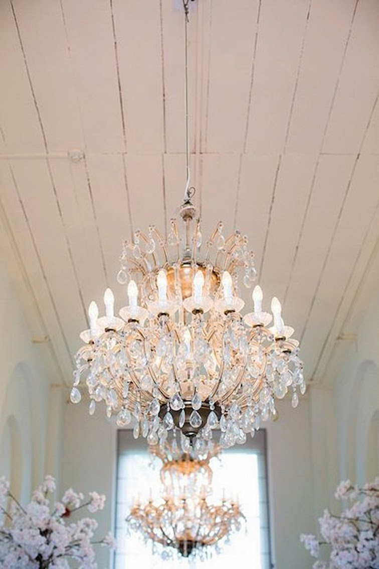 White wood ceiling chandelier