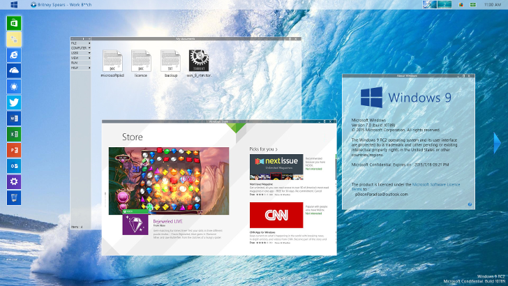 concept Windows 9 Menu
