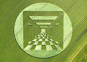 Crop Circle (Motif unik misterius)