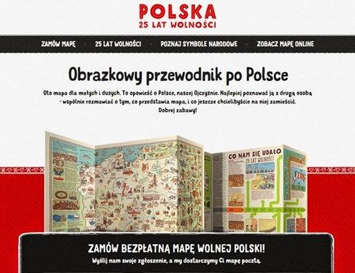 mapa, obrazkowy przewodnik po Polsce