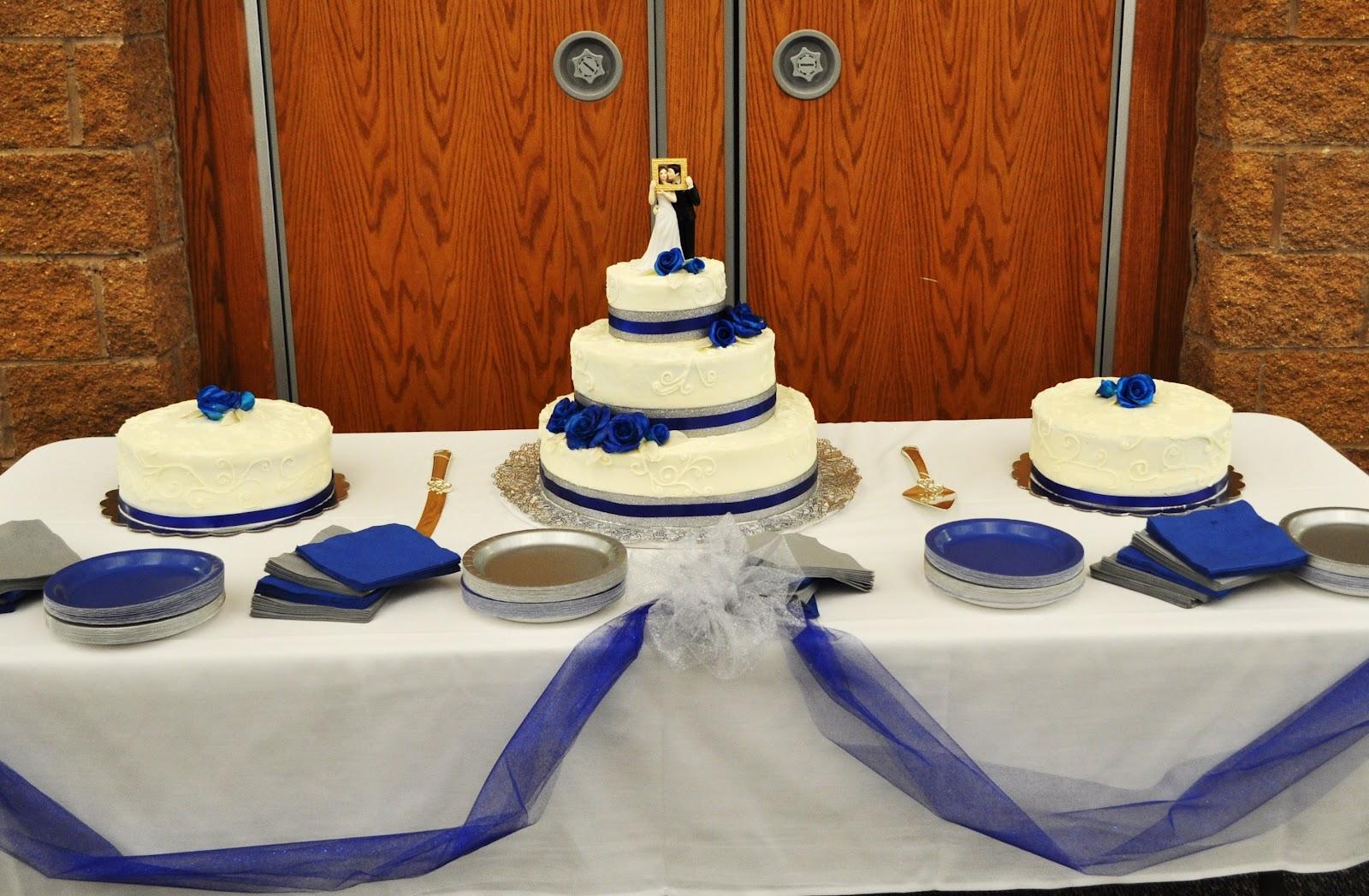 Cakejoy Royal Blue And Silver Wedding
