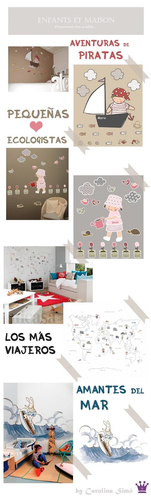 Habitaciones infantiles, Vinilos para niños, Murales decoración habitación niños, Enfants et Maison