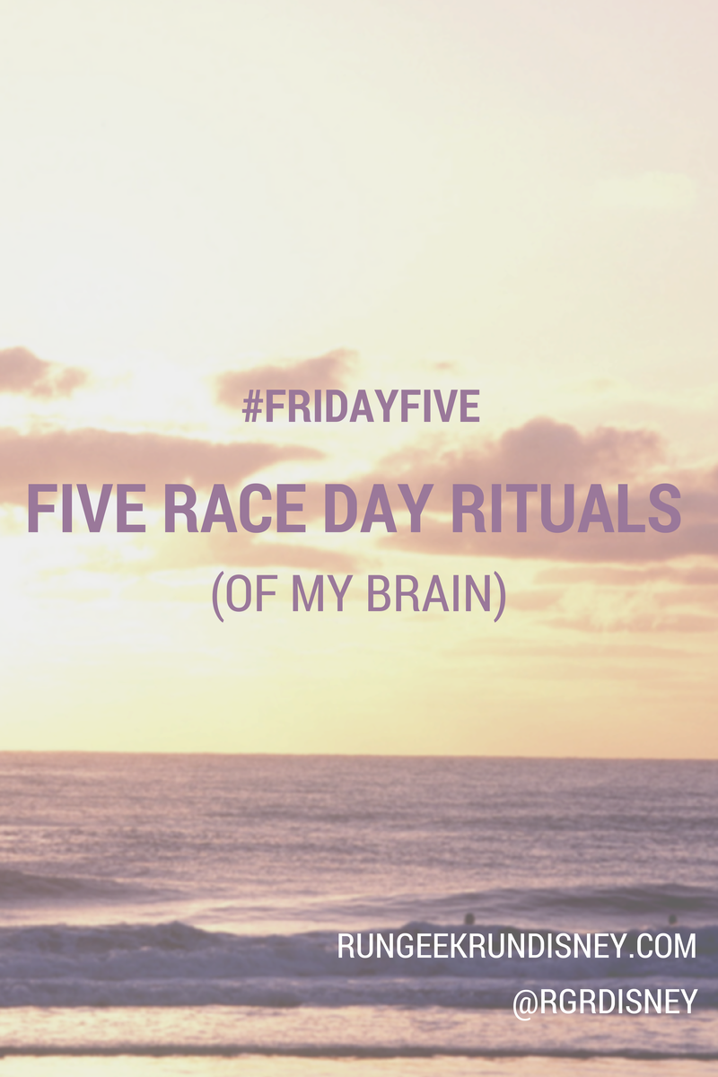 Race Day Rituals