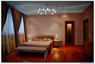 Интерьер спальни из проекта, реализованного дизайн-бюро «Линия 8»