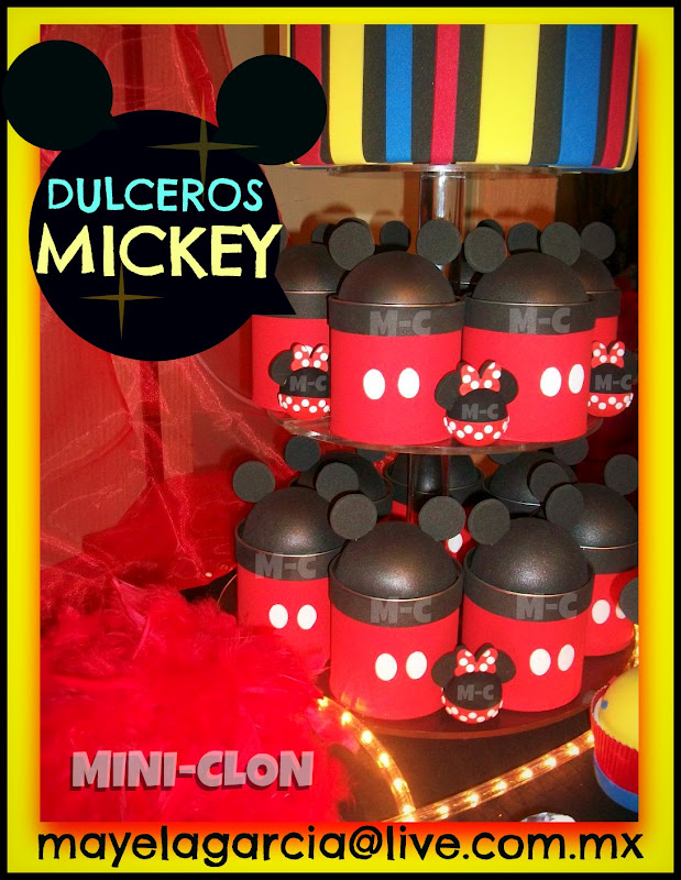 Dulceros de mickey mouse car interior design - Fiesta tematica mickey mouse ...